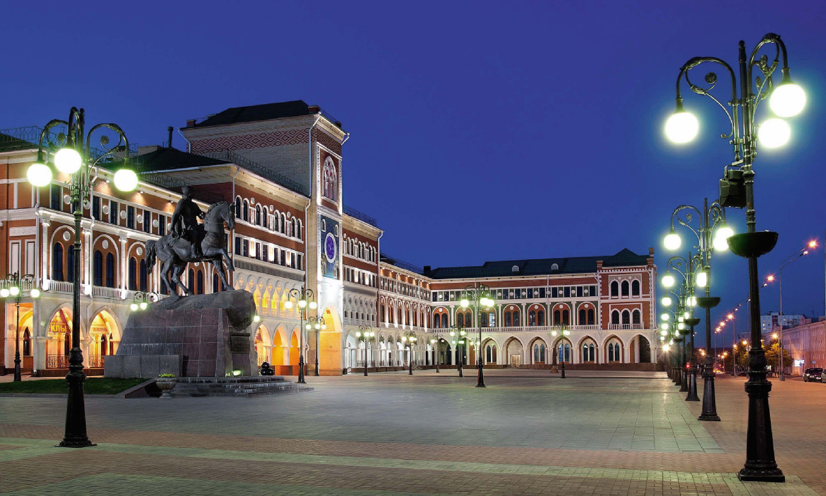 The main square of the Mari El republic's capital Yoshkar-Ola