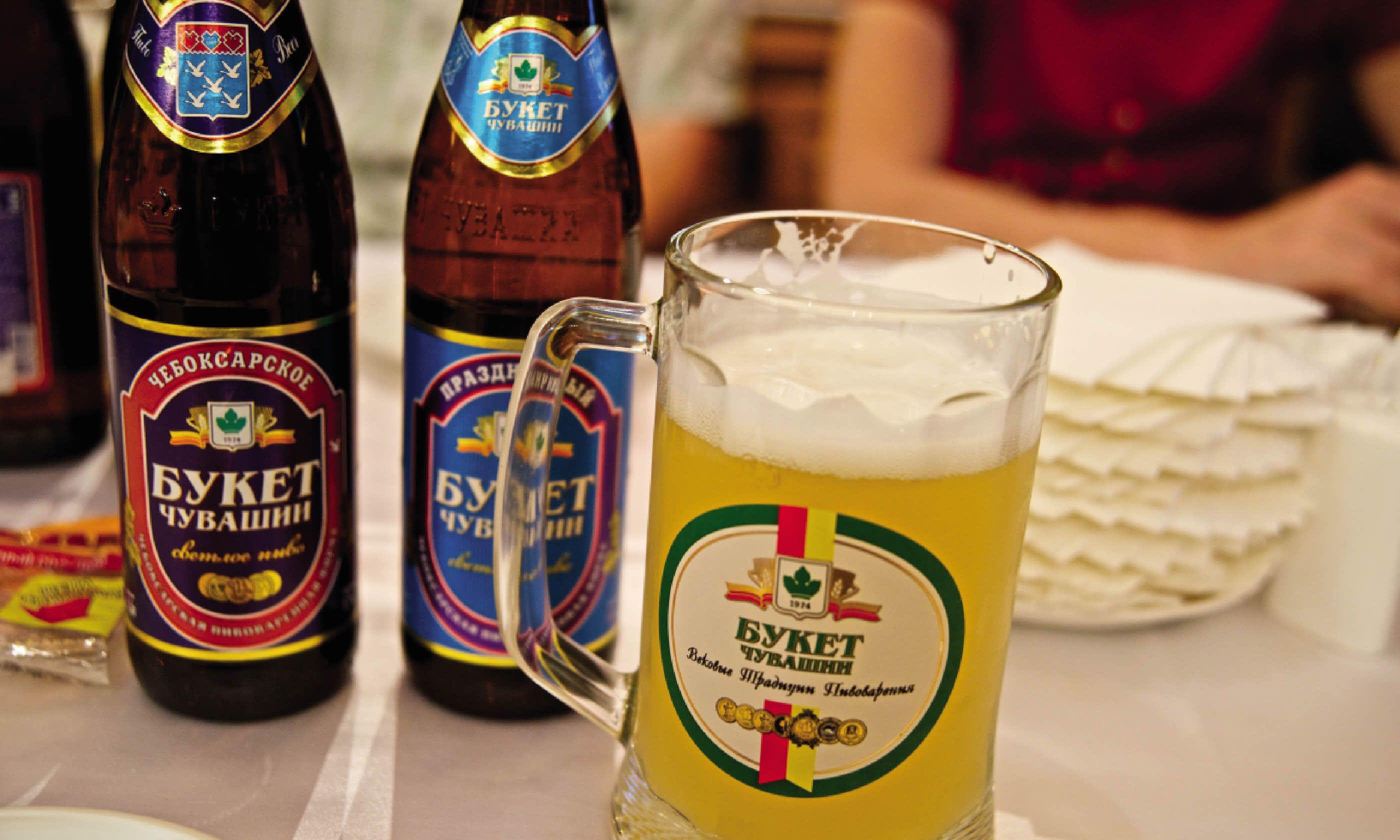 Sampling the beers in Chuvashia