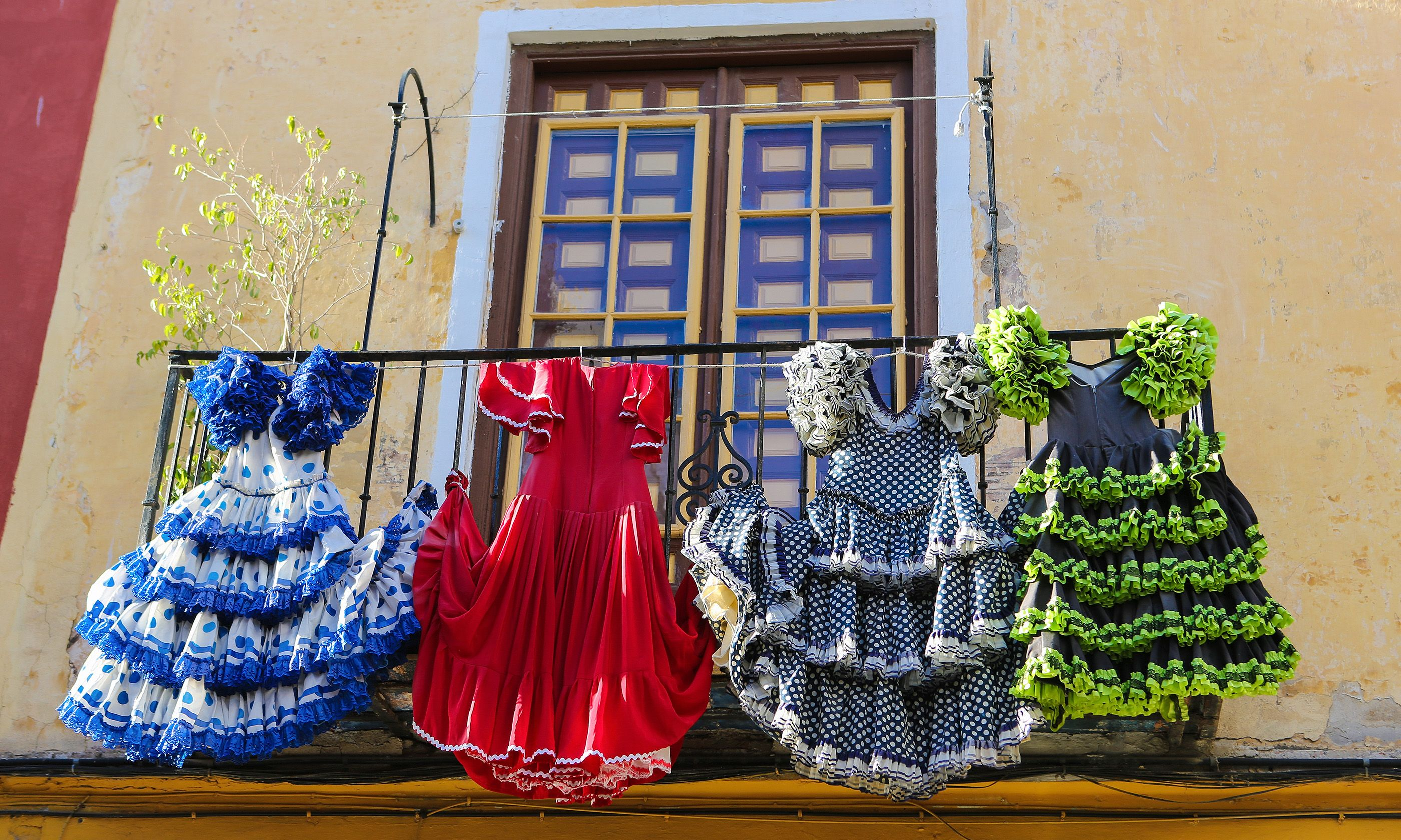 Tradiitional flamenco dresses. From Shutterstock.com