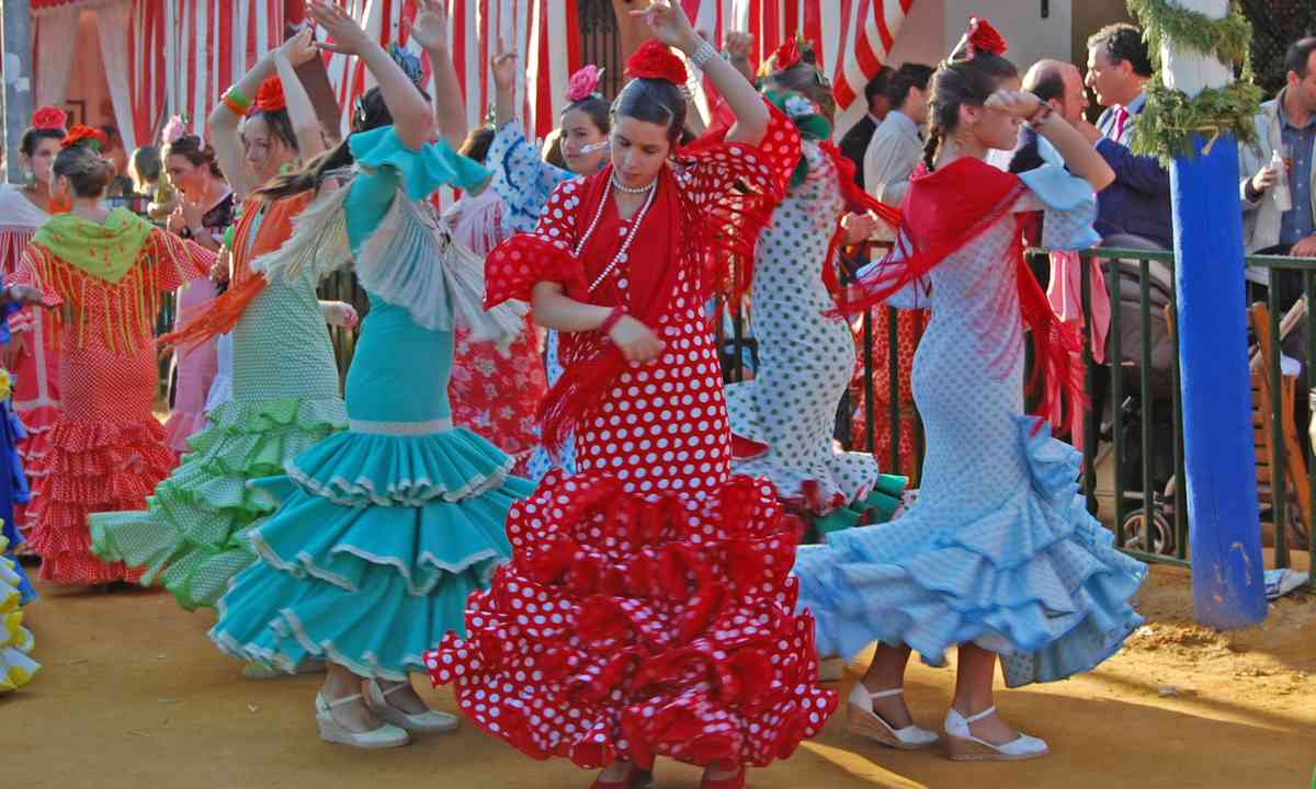 Flamenco dancers in Seville. From Shutterstock.com.