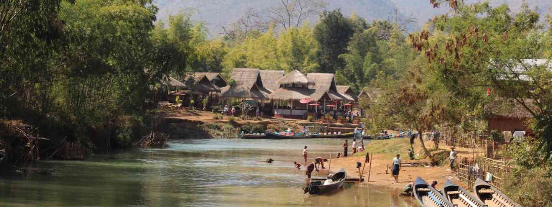 River scene at In Thein, Burma (Graeme Green)