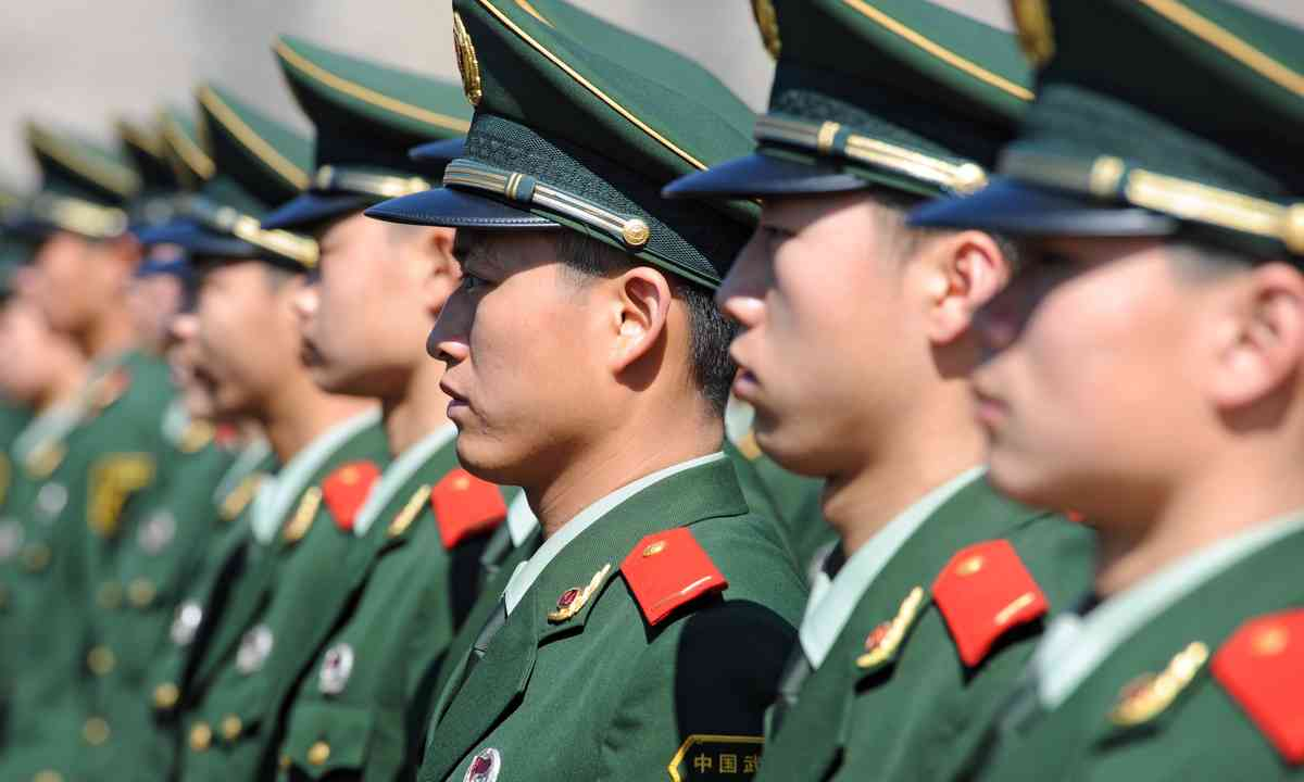 Chinese soldiers in Tianamen Square (Dreamstime)