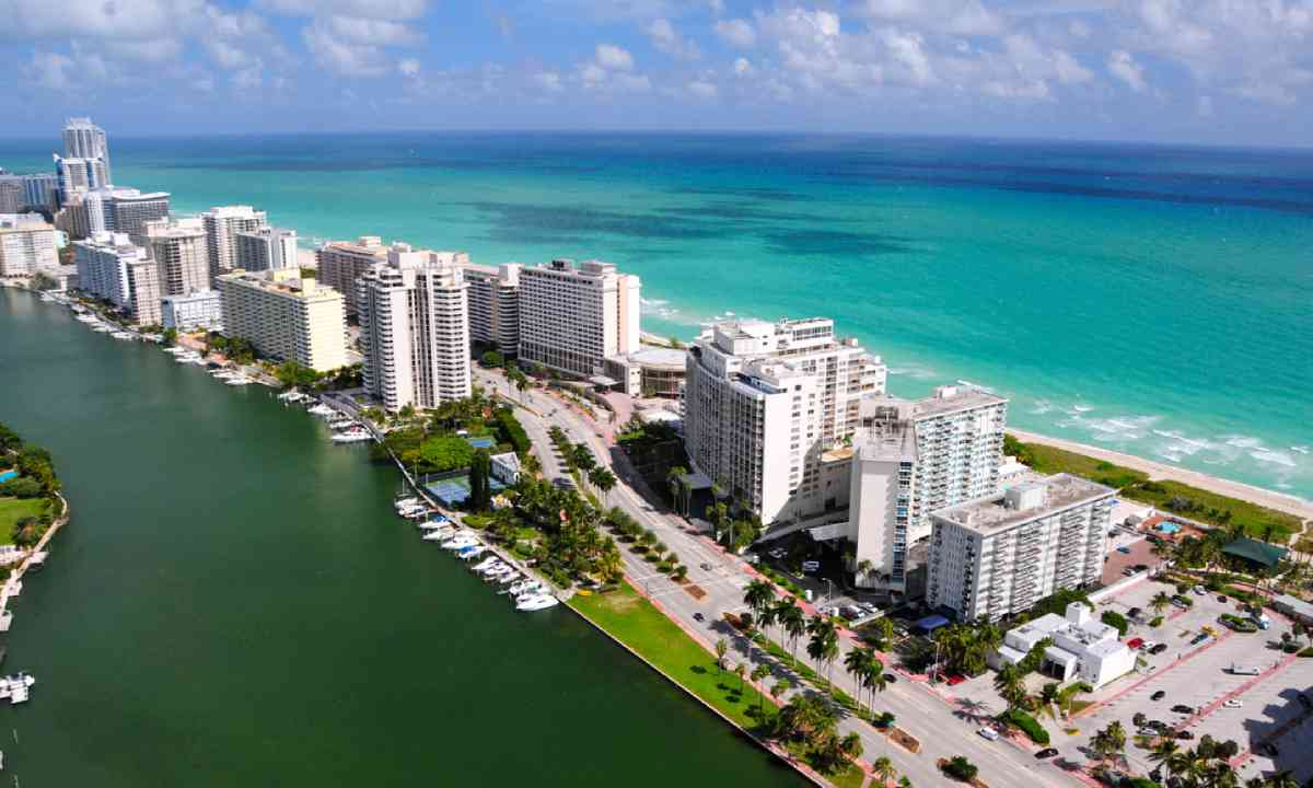 Aerial view of Miami South Beach, Florida (Shutterstock)