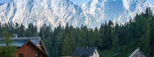 Small houses in high mountains Alps Austria (Shutterstock: see credit below)