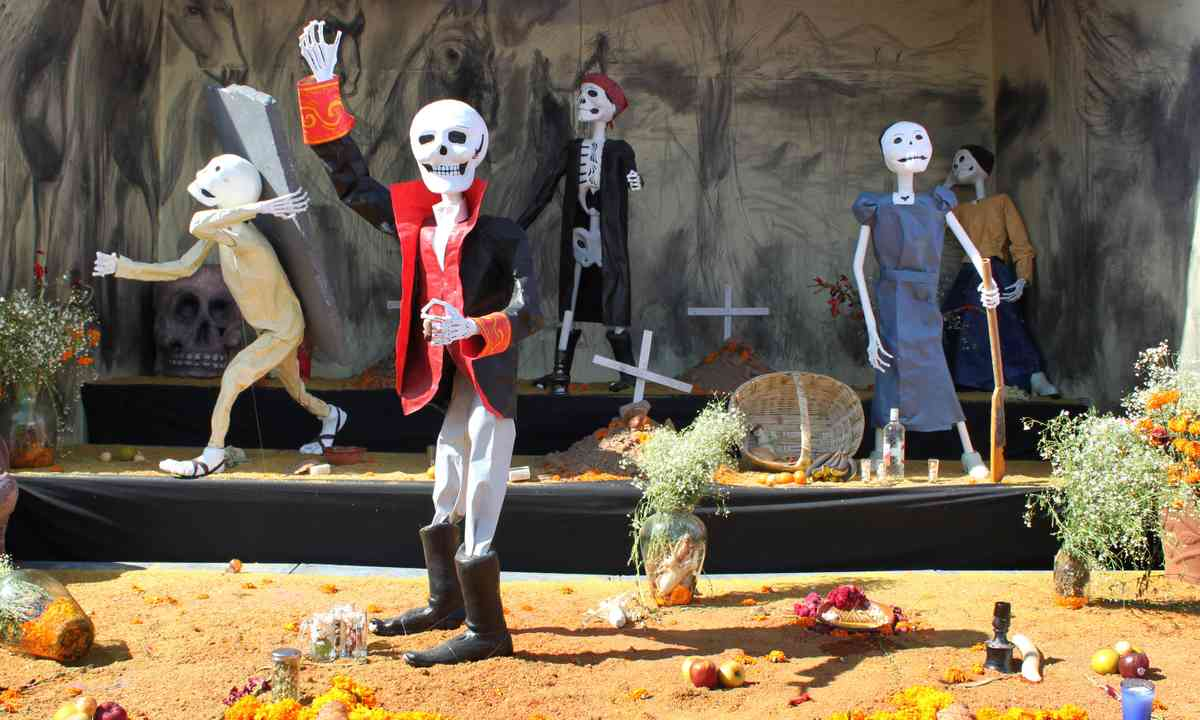 Day of the Dead display. From Shutterstock.com