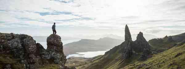 Man hiking in Scottish Highlands (Dreamstime)