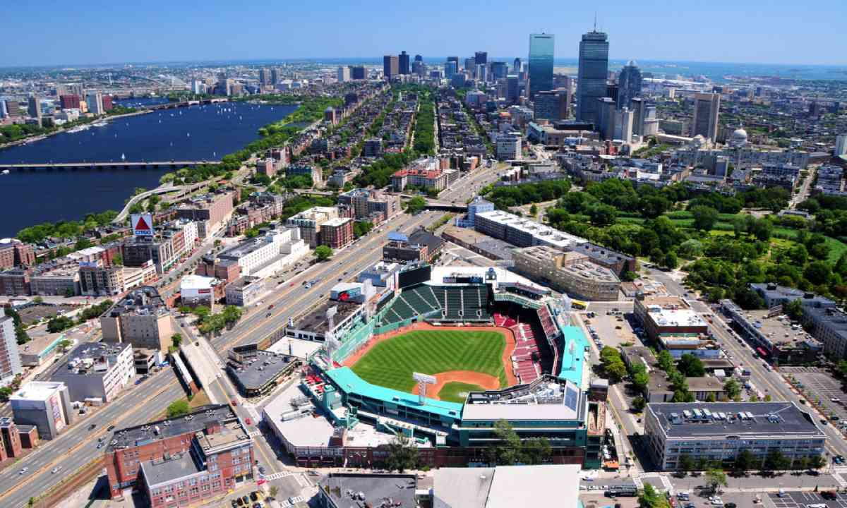 Aerial view of Fenway Park, Boston (Shutterstock)