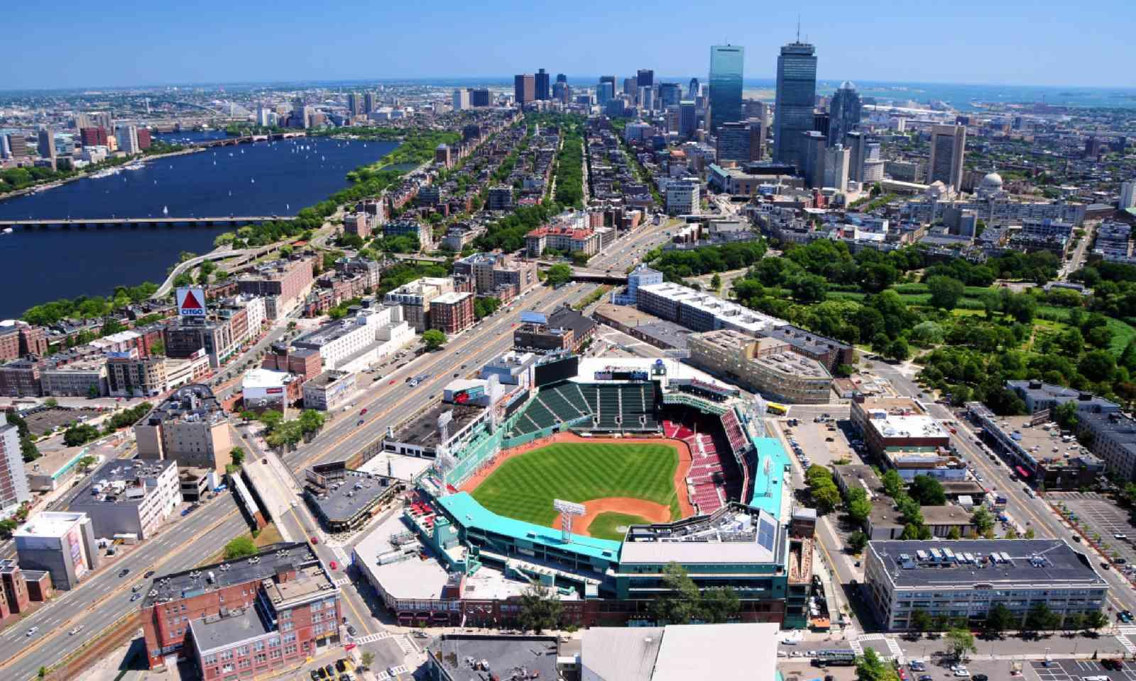 Aerial view of Fenway Park, Boston (Shutterstock)