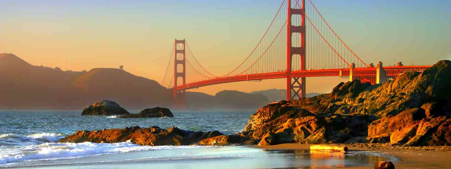 The Golden Gate Bridge viewed from Baker Beach (Dreamstime)