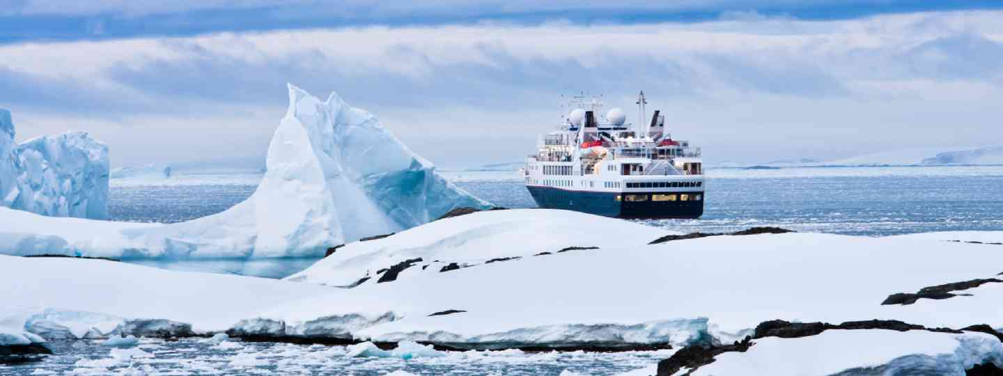 Cruise ship in Antarctic waters (Shutterstock: see credit below)