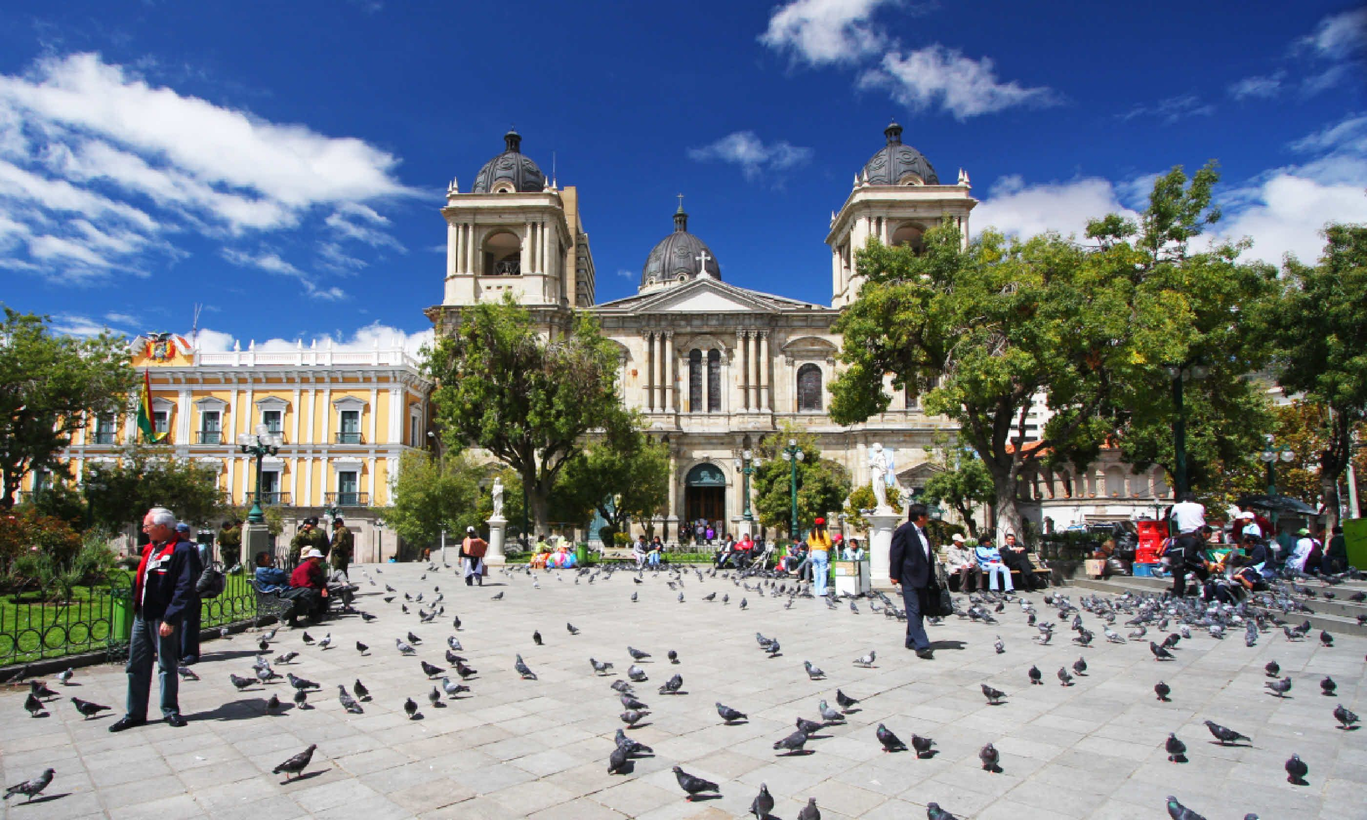 Plaza Murillo and the Presidential Palace (Shutterstock)