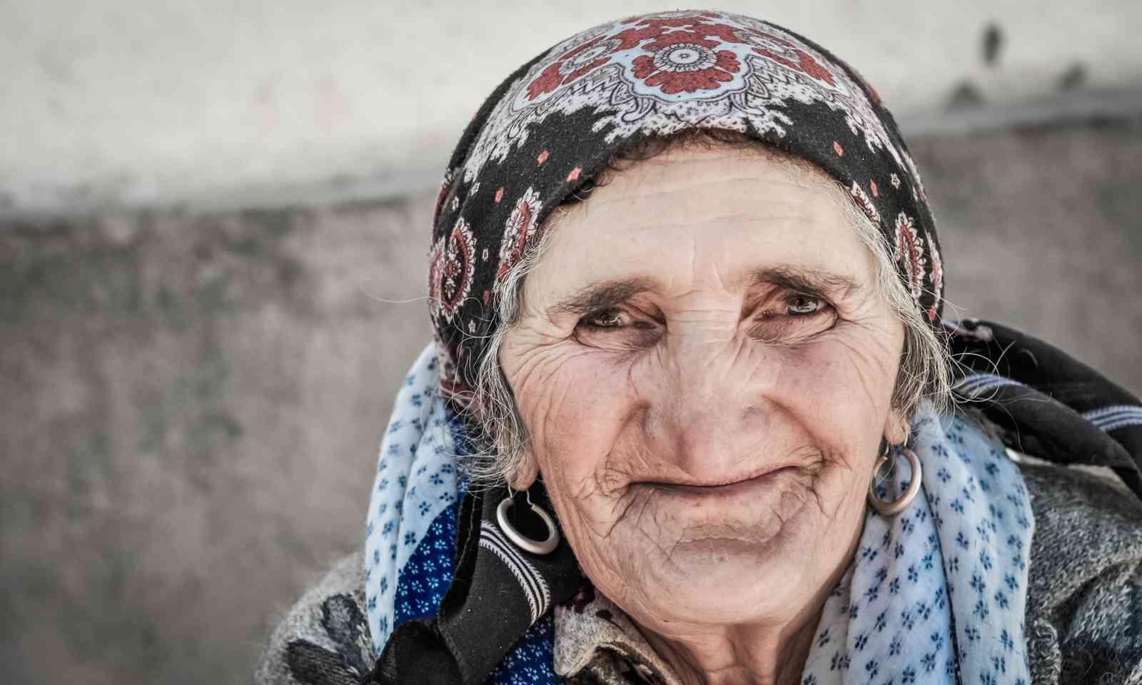 A friendly old lady in Khorog, Tajikistan (Dreamstime)