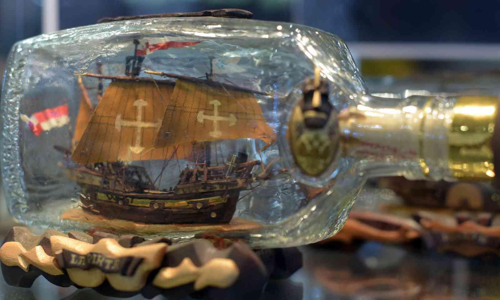 A ship in a bottle (Dreamstime)