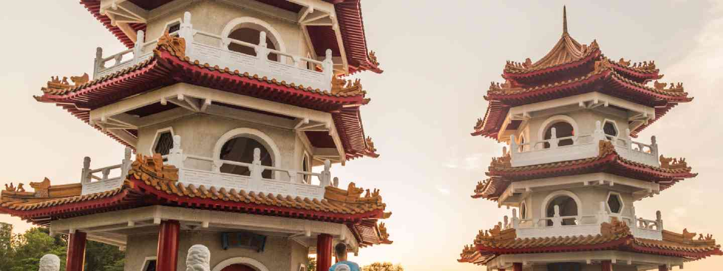 Twin pagodas at the Singapore Chinese Gardens (Shutterstock: see credit below)