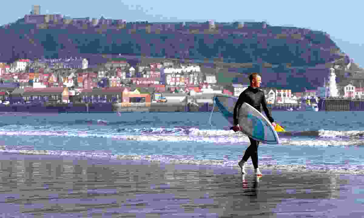 Heading out to catch a few waves (North Yorkshire Tourist Board)