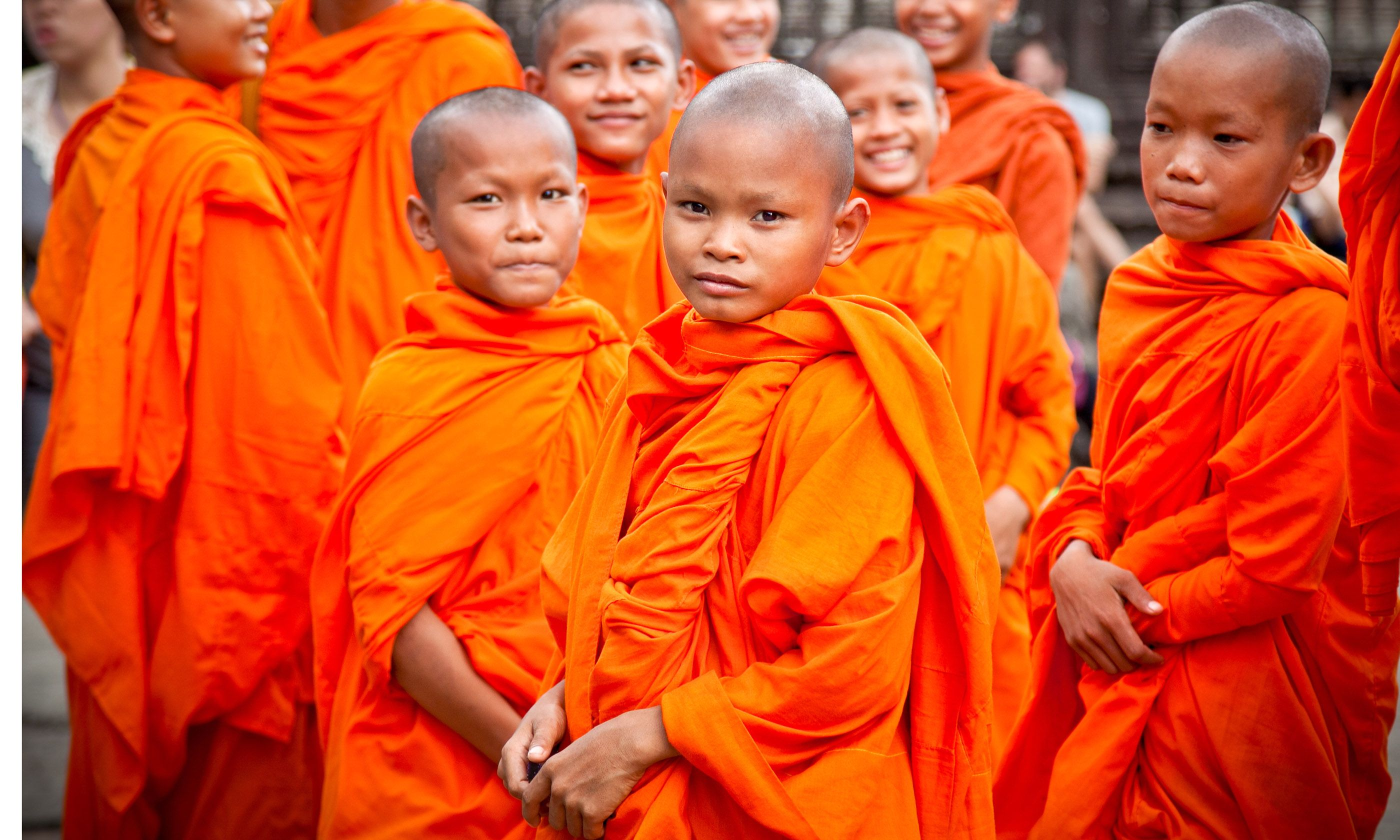 Novice monks, Angkor Wat (Shutterstock)