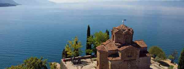 St John at Kaneo Church overlooking Lake Ohrid, Macedonia (Lyn Hughes)