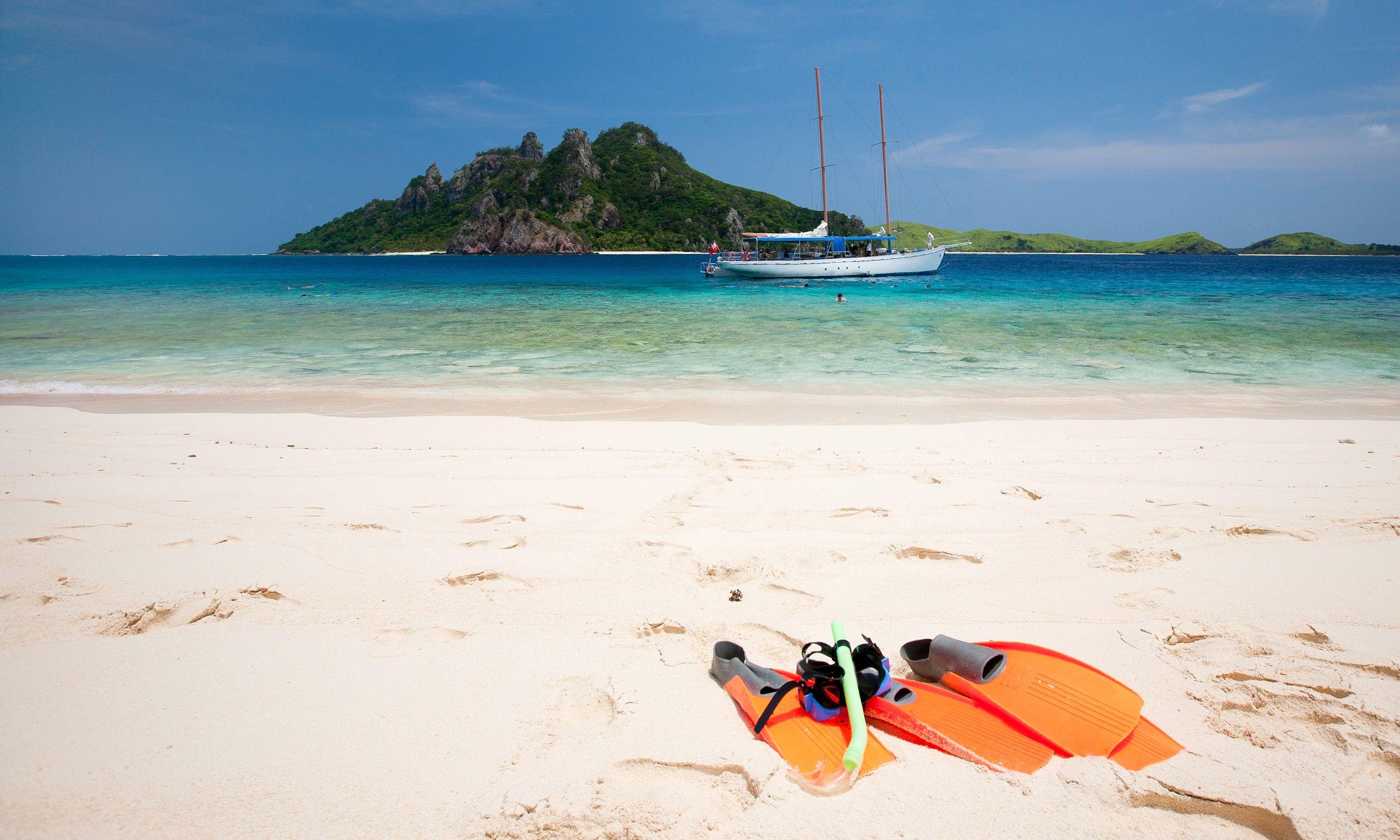 A remote beach in Fiji (Dreamstime)