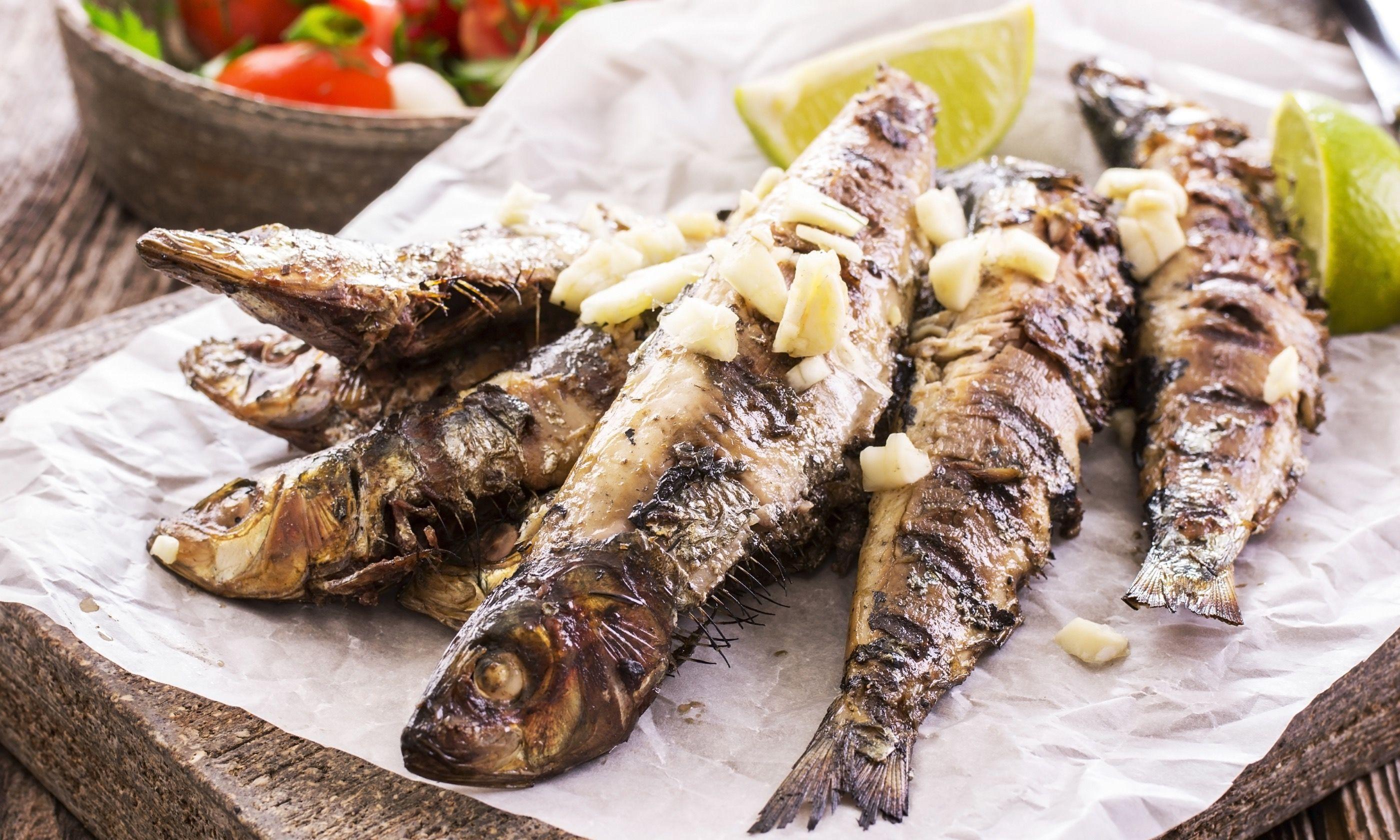 Grilled sardines (Dreamstime)