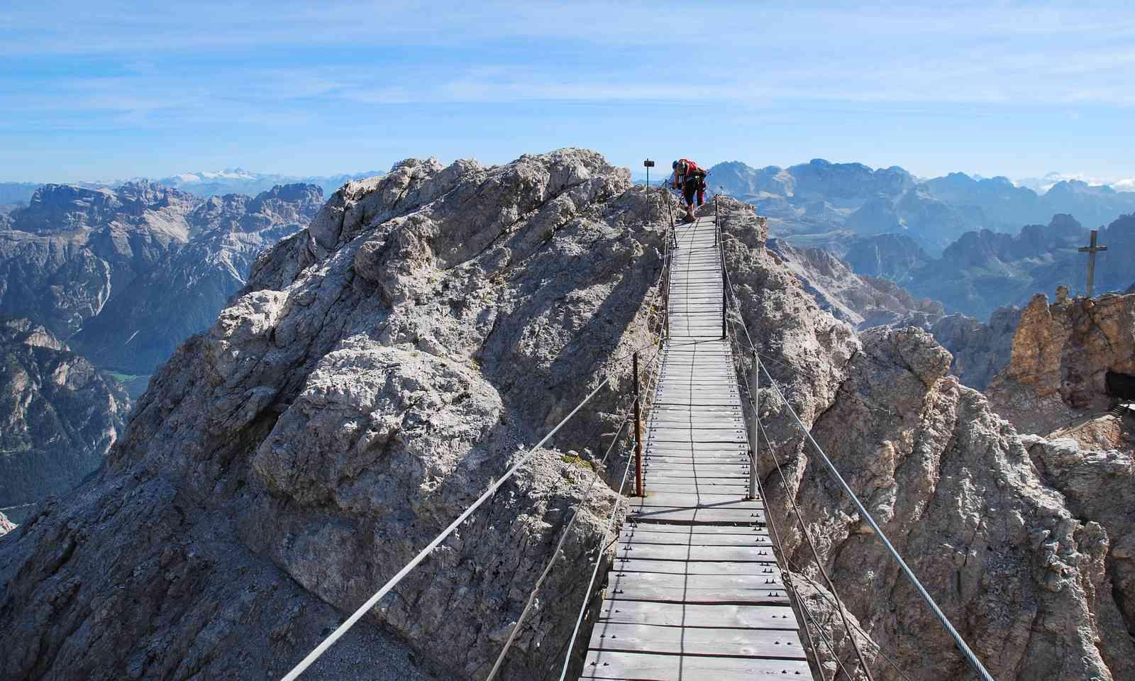 View from via ferrata Ivano Dibona in the Dolomites (Dreamstime)