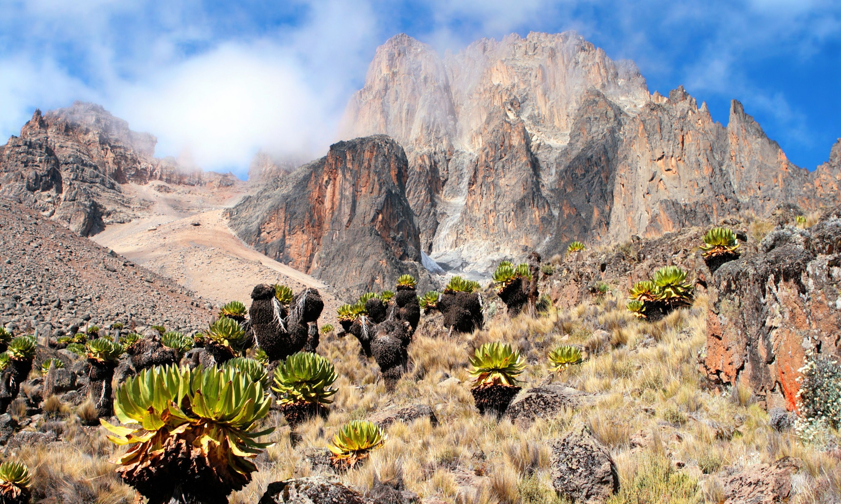 Mount Kenya. Via ferrata not shown. (Dreamstime)