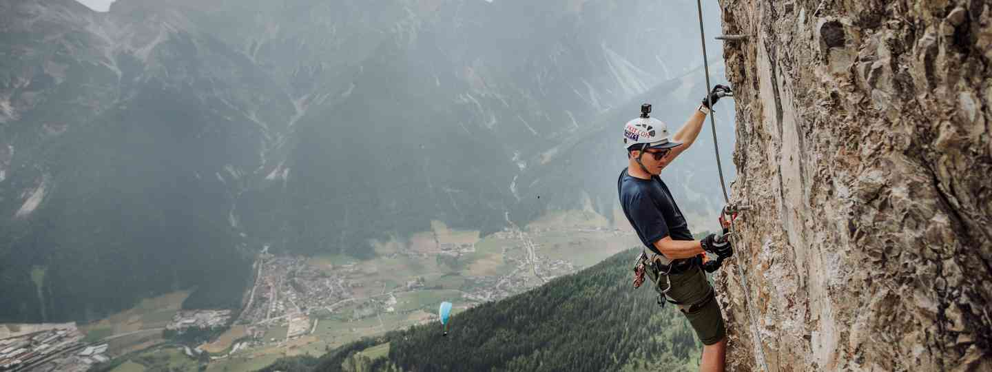 Climbing a Via Ferrata in Austria (Dreamstime)