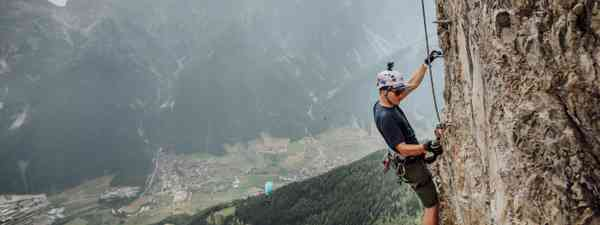 Climbing a Via Ferrata in Austria (Dreamstime)