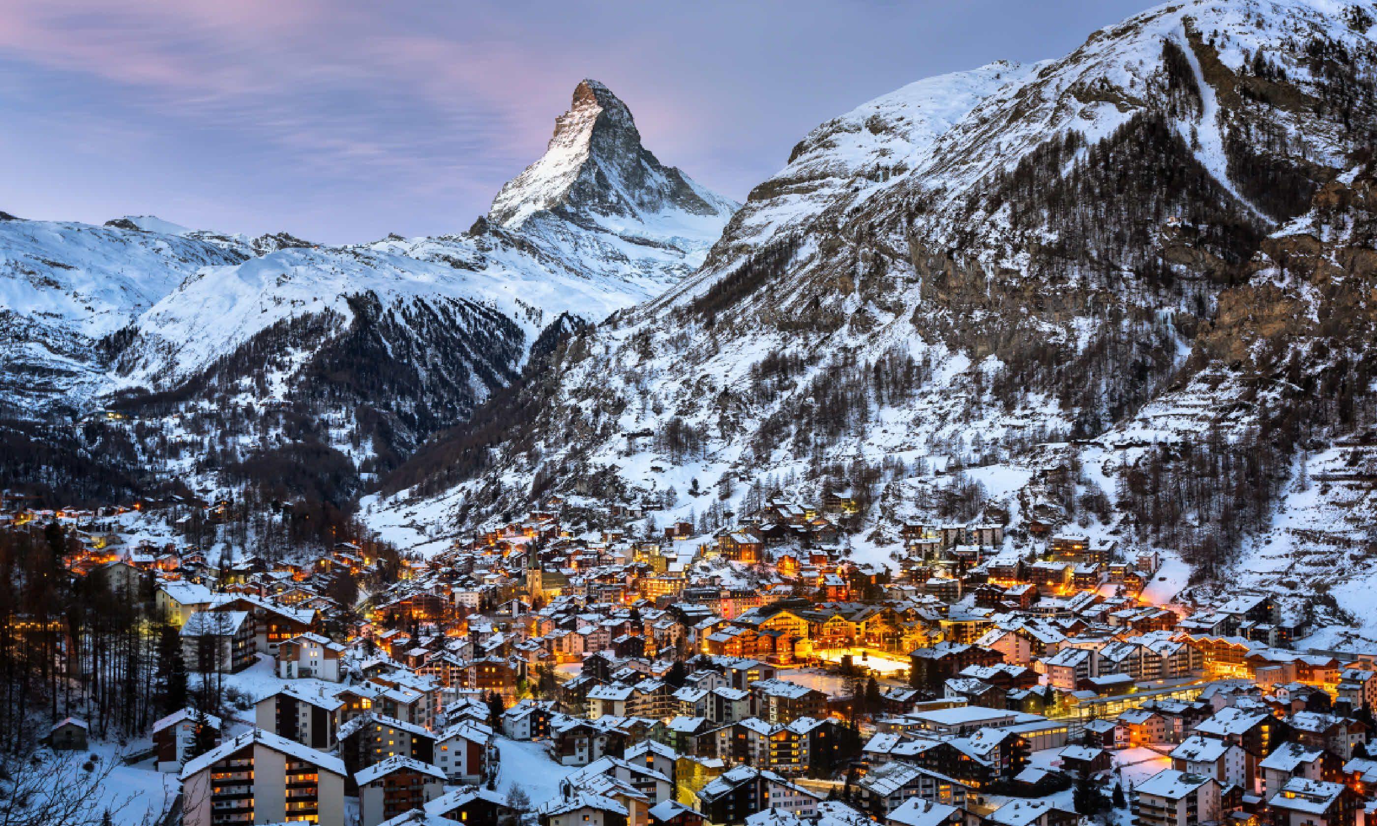 Zermatt Valley and Matterhorn Peak (Shutterstock)