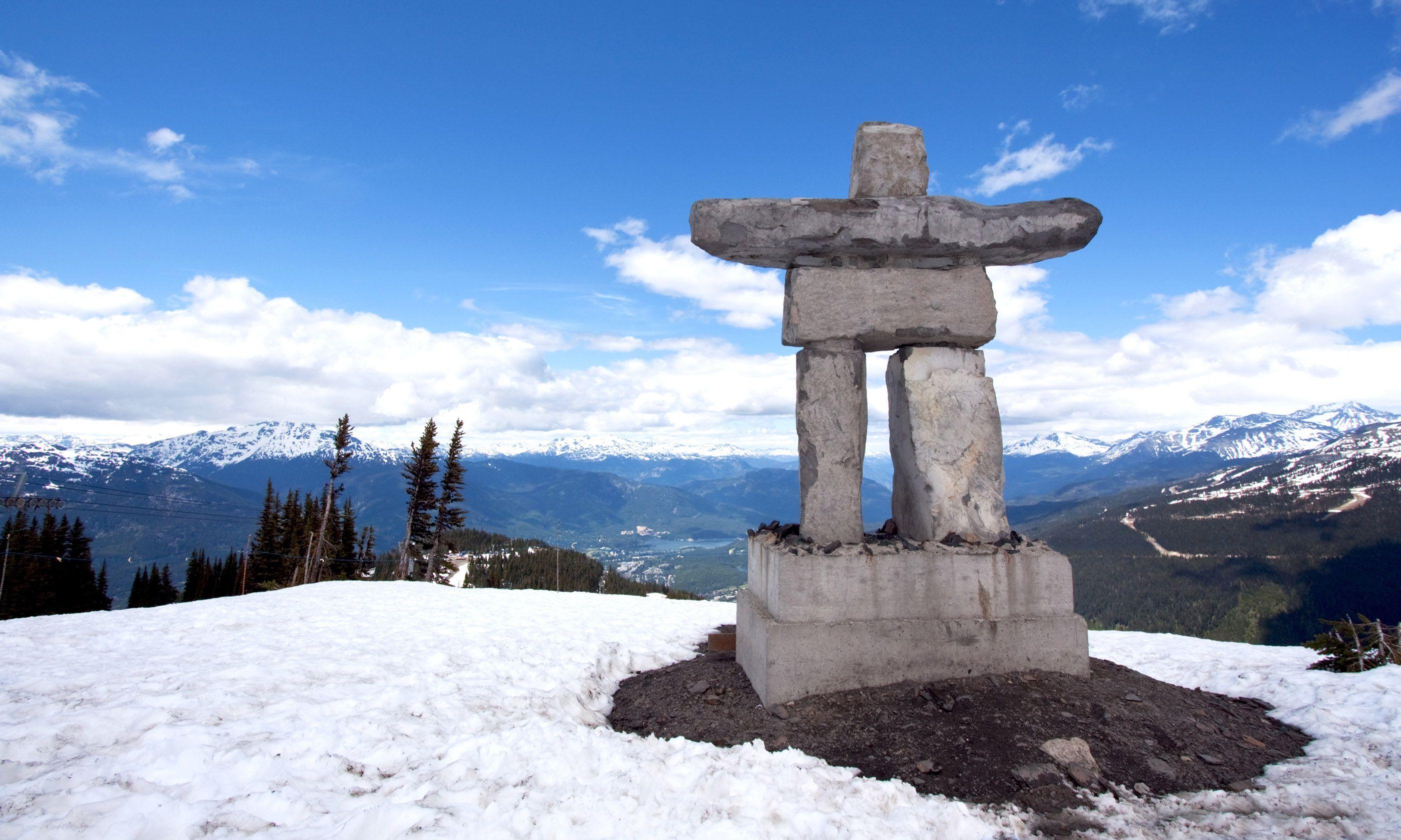 Inukshuk at the top of Whistler Peak (Shutterstock.com)