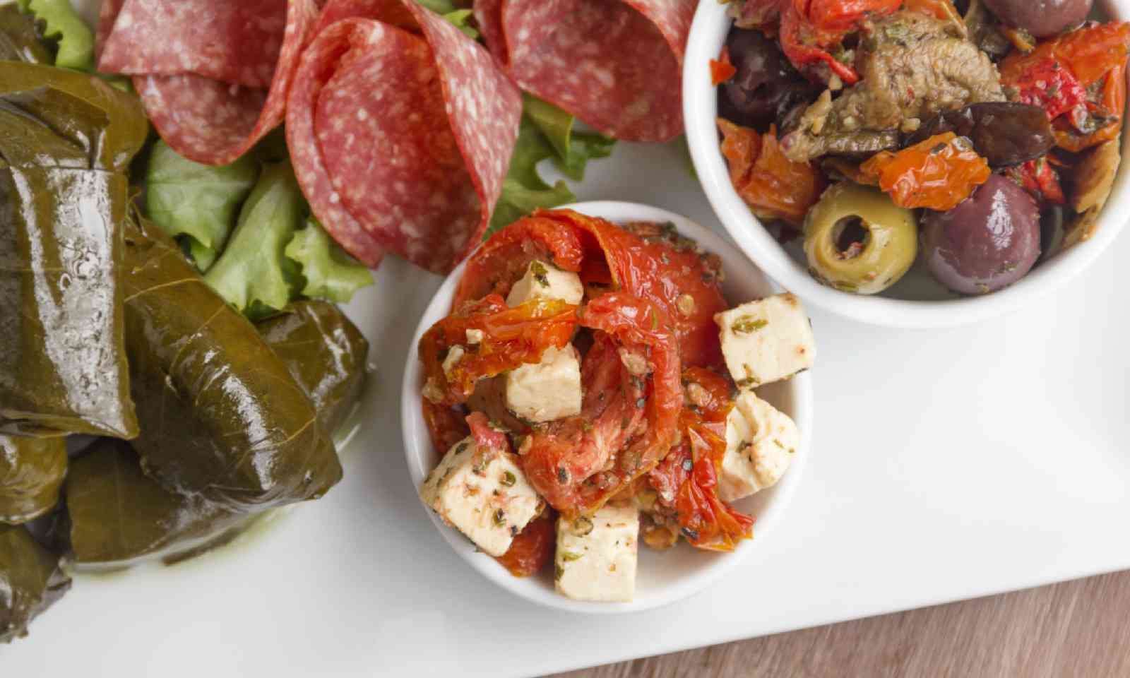 Feta cheese and sundried tomato meze (Shutterstock)