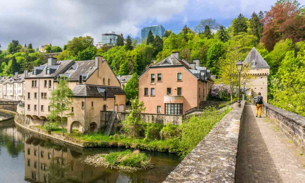 Houses by the Alzette River (Shutterstock)