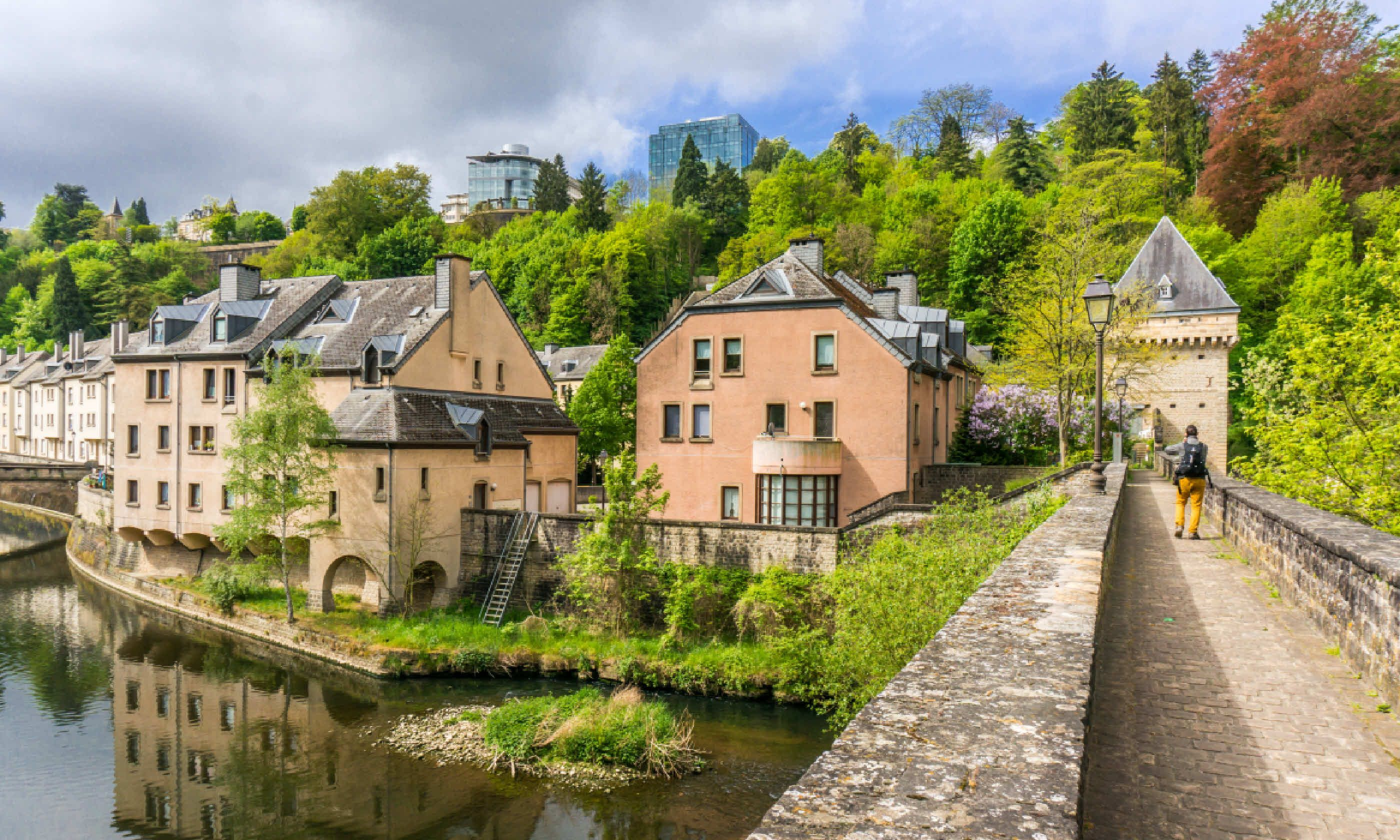 Short break in luxembourg city wanderlust houses by the alzette river shutterstock altavistaventures Choice Image
