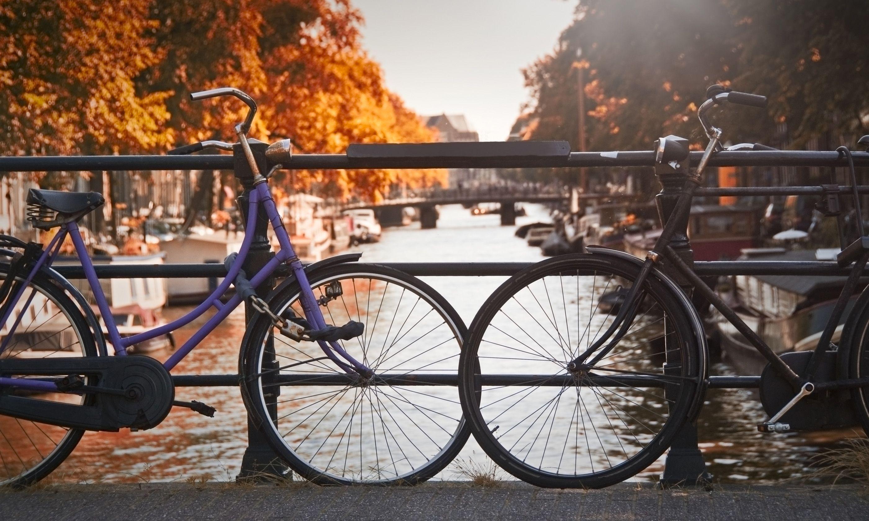 Bikes on a bridge, Amsterdam (Shutterstock.com)