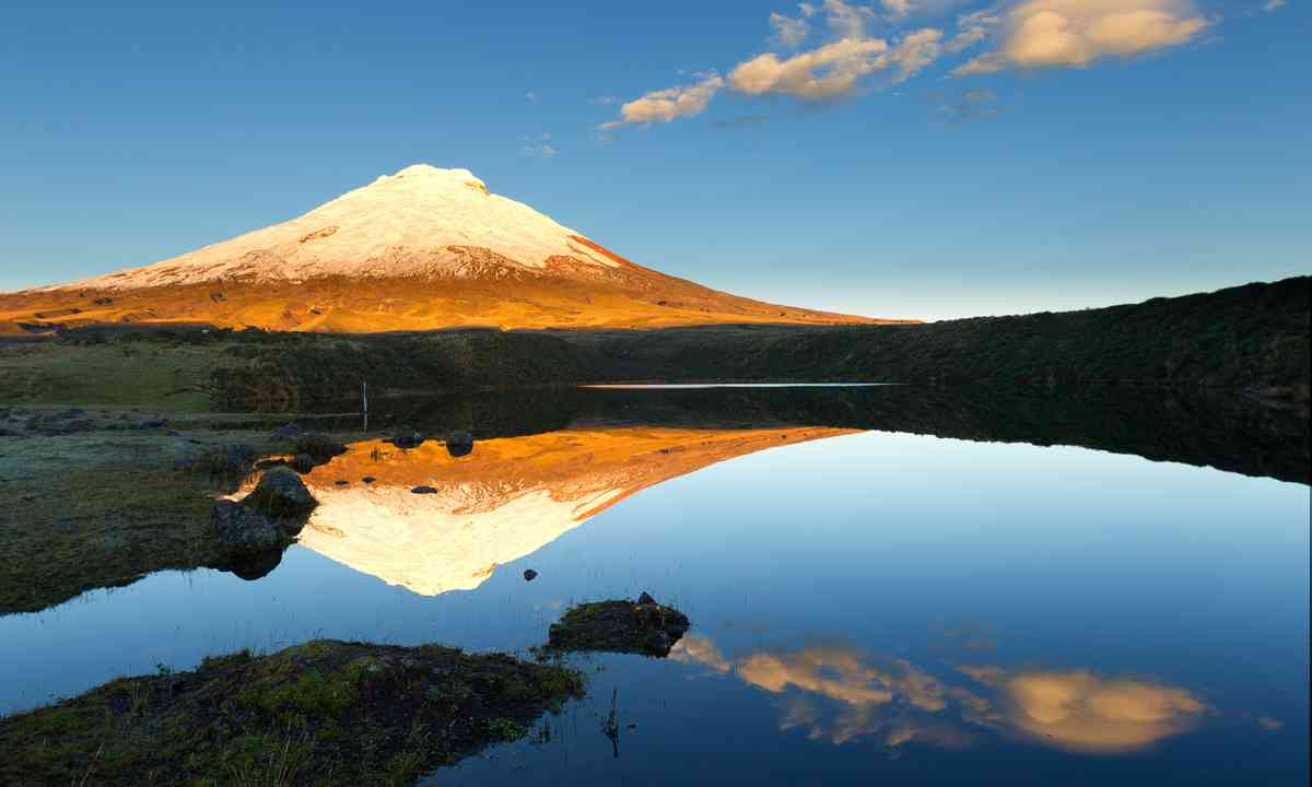 Cotopaxi reflected in lake (Shutterstock.com)