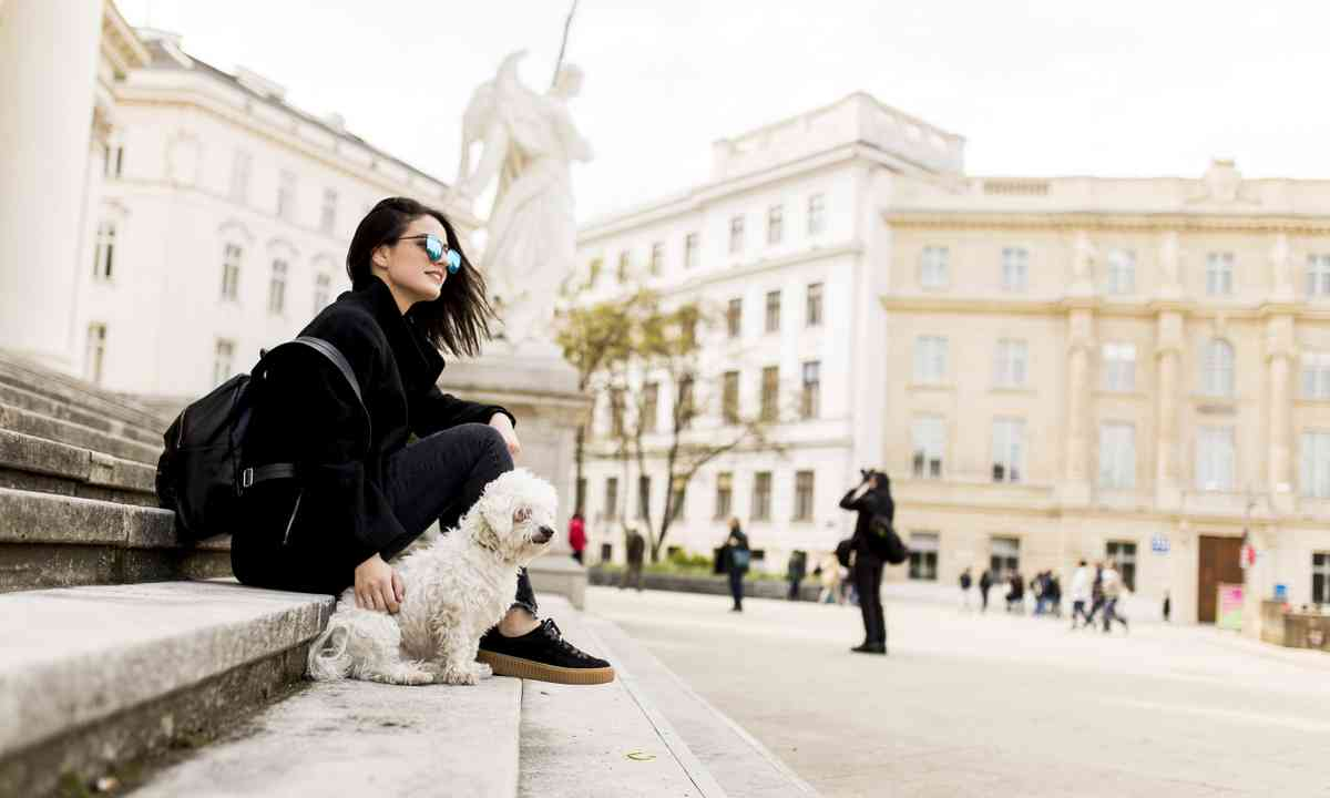 Girl with her dog in Vienna (Dreamstime)