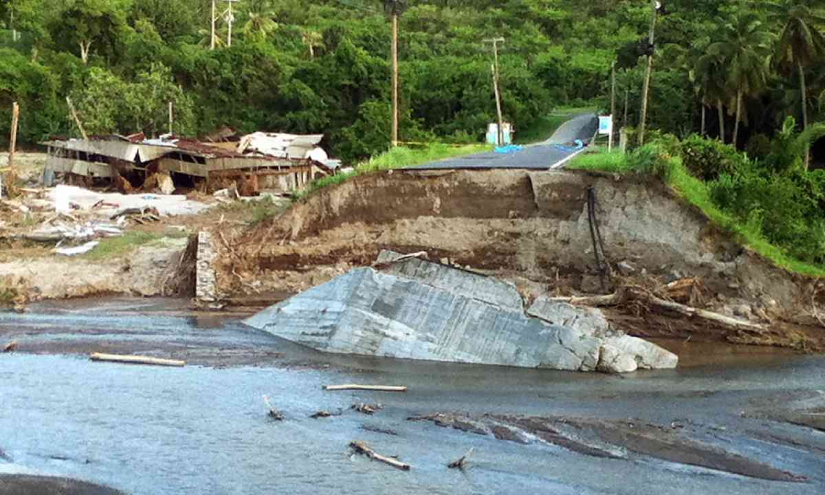 Damage after the storm (Paul Crask)