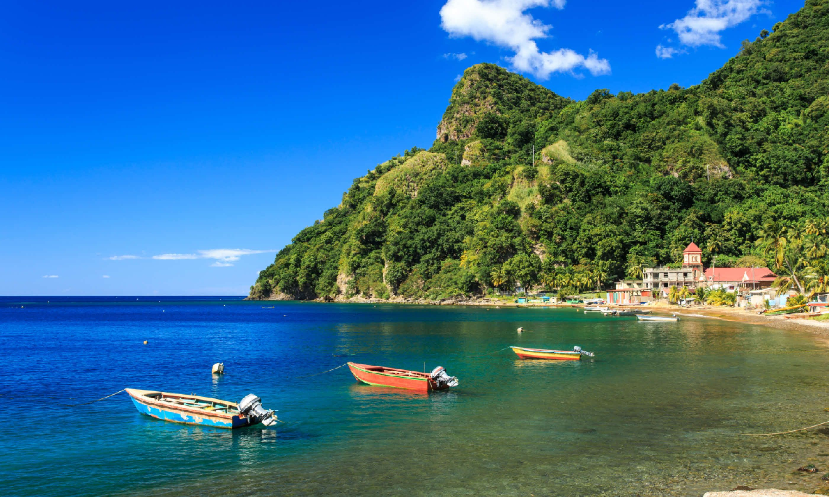 Boats on Soufriere Bay (Shutterstock)
