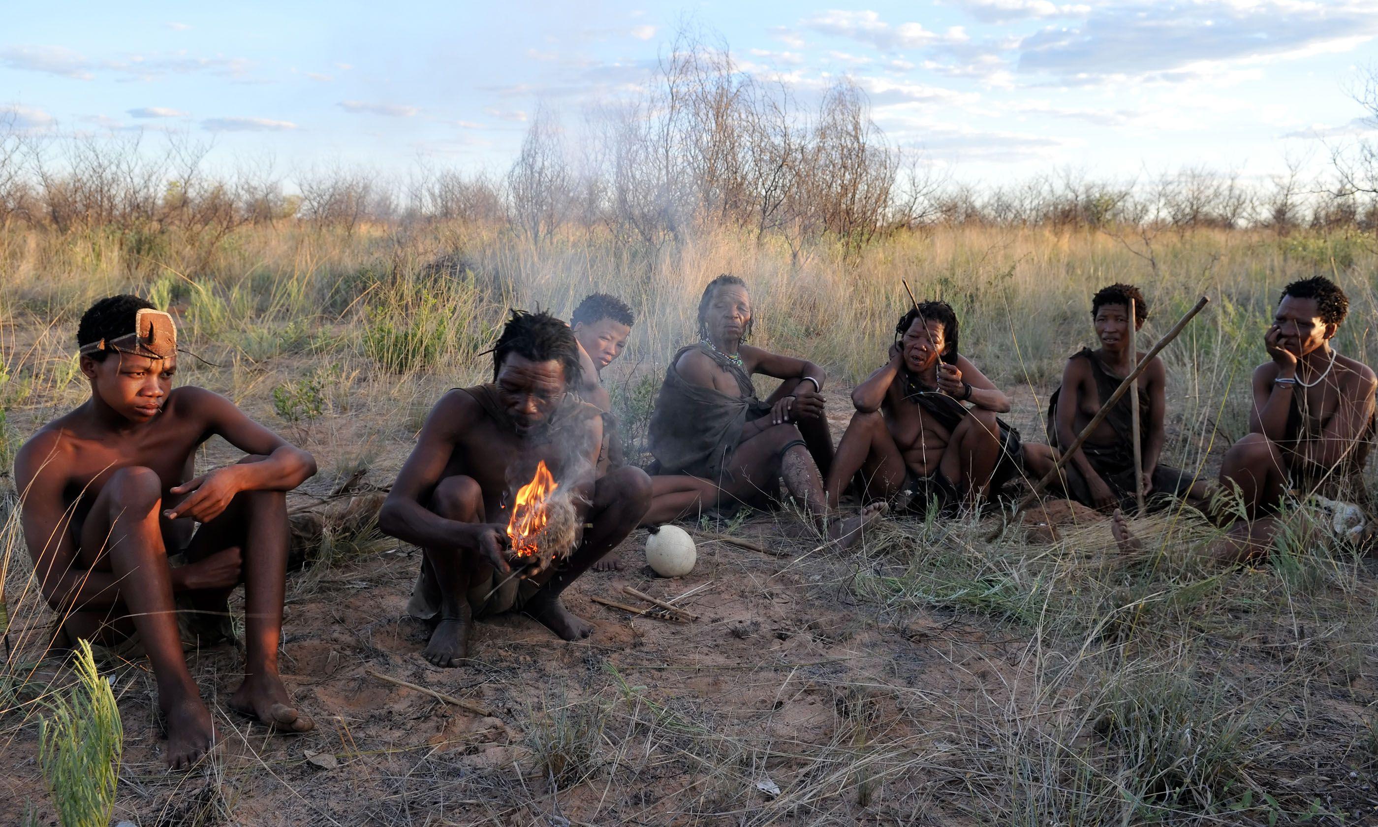 Kalahari bushmen in Botswana (Shutterstock.com)