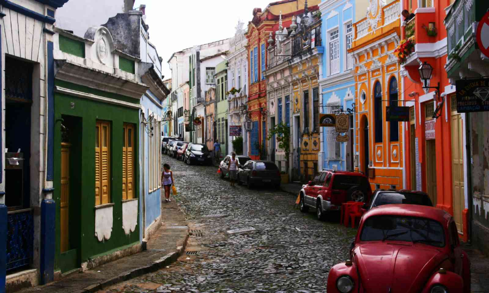 Colourful small street (Dreamstime)