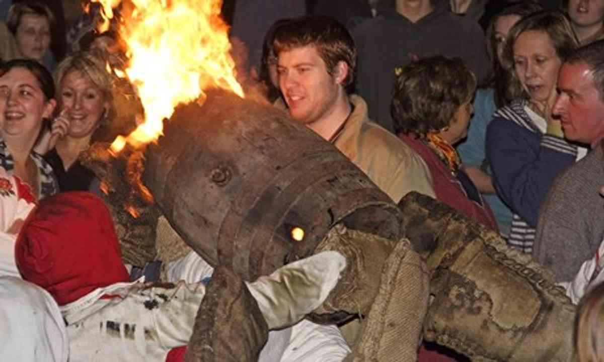 Barrel burning