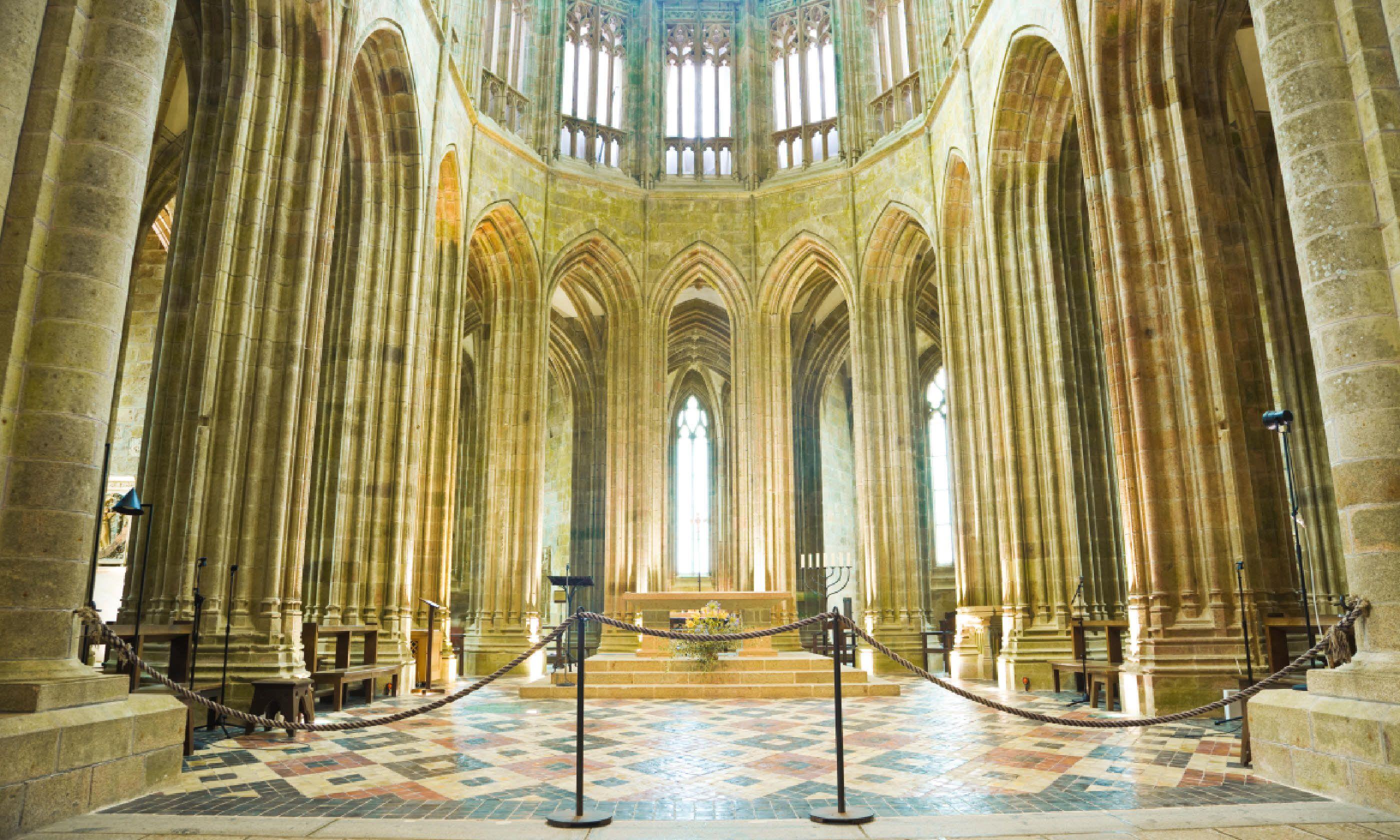 Inside the Abbey of Mont Saint Michel (Shutterstock)