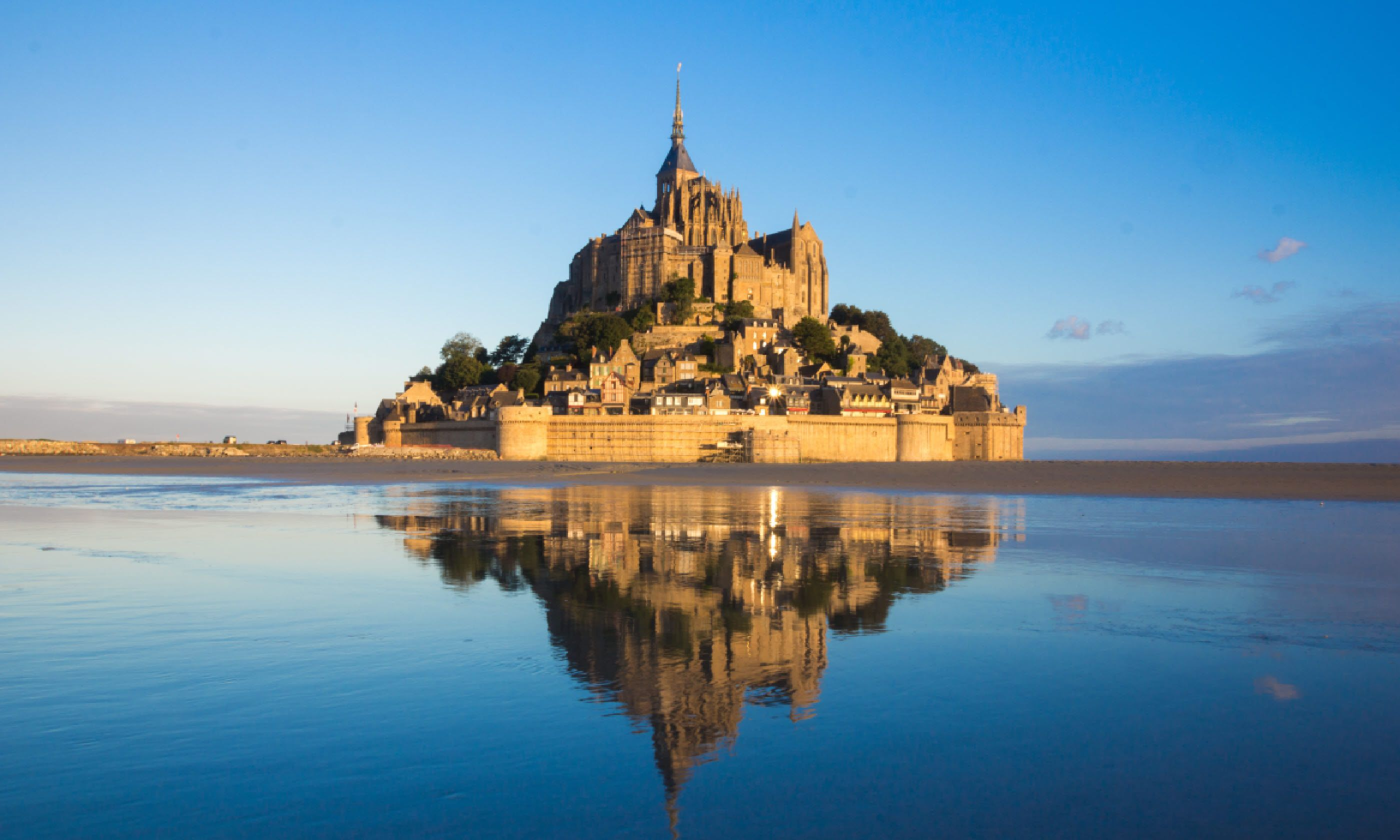Castle of Mont Saint Michel in France