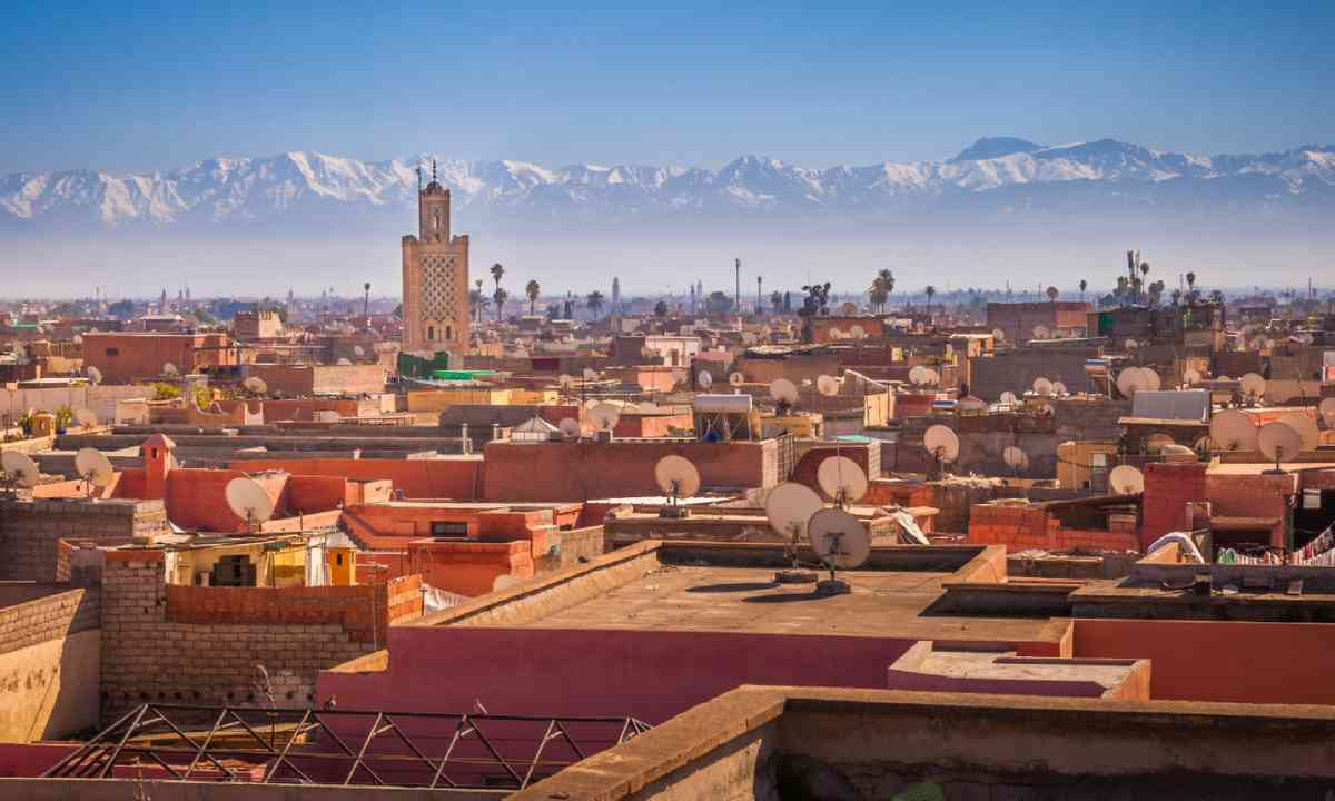 Marrakesh and the snow capped Atlas mountains (Shutterstock)