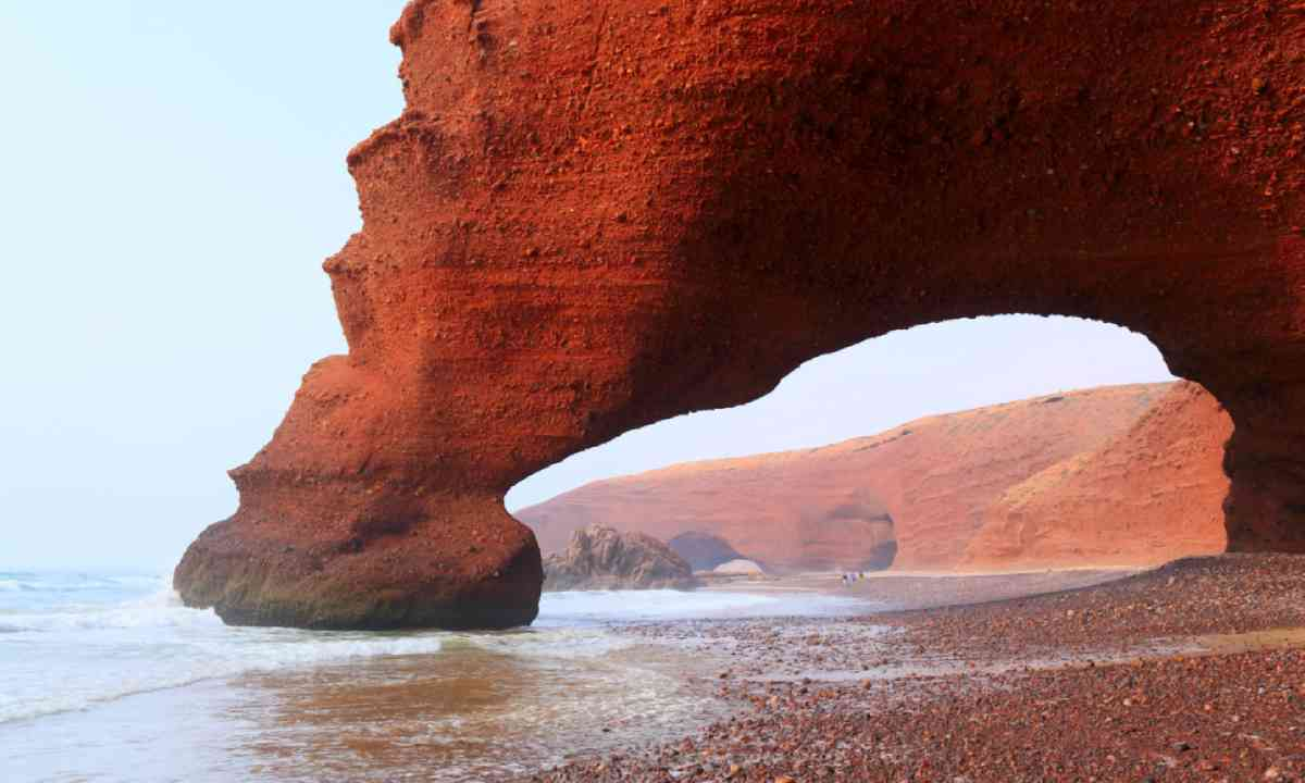 Red arches on Atlantic Ocean coast (Shutterstock)