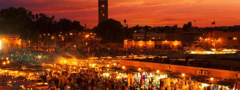 Sunset in Marrakesh, Morocco (Shutterstock)