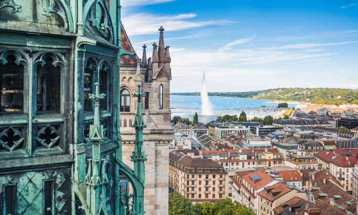 View of Geneva from Cathedral of Saint-Pierre (Shutterstock)