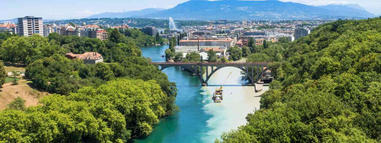 Aerial view of Geneva (Shutterstock)