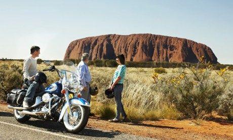 Uluru on a Harley (Wanderlust)