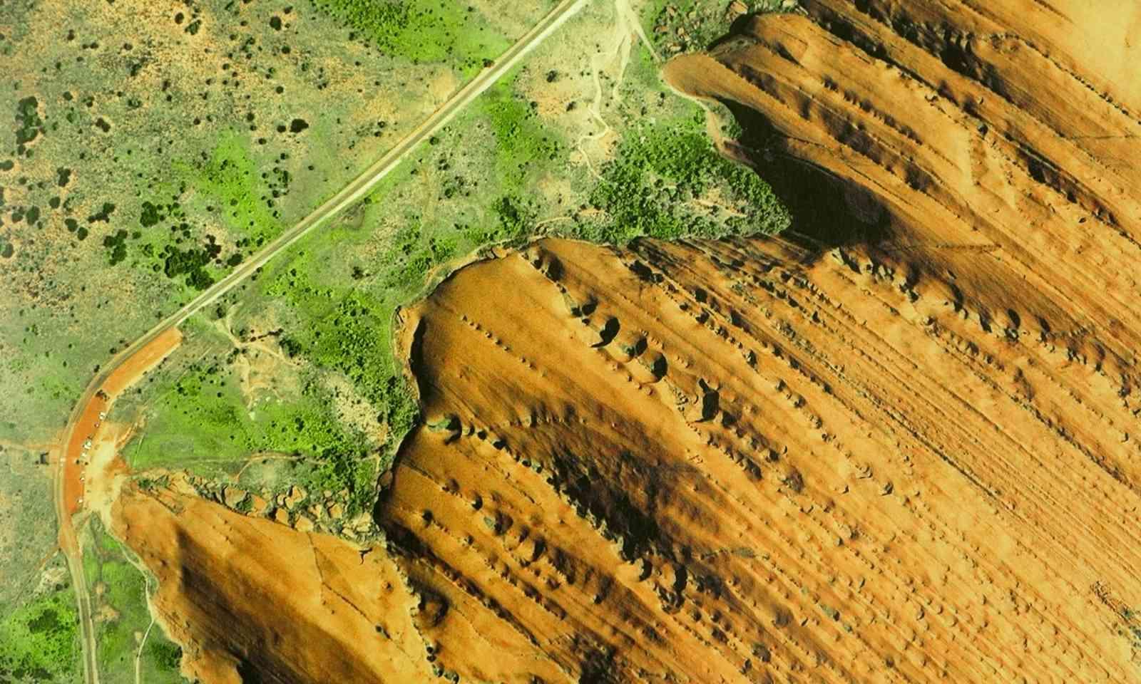 Bird's Eye view of Uluru (Shutterstock.com)