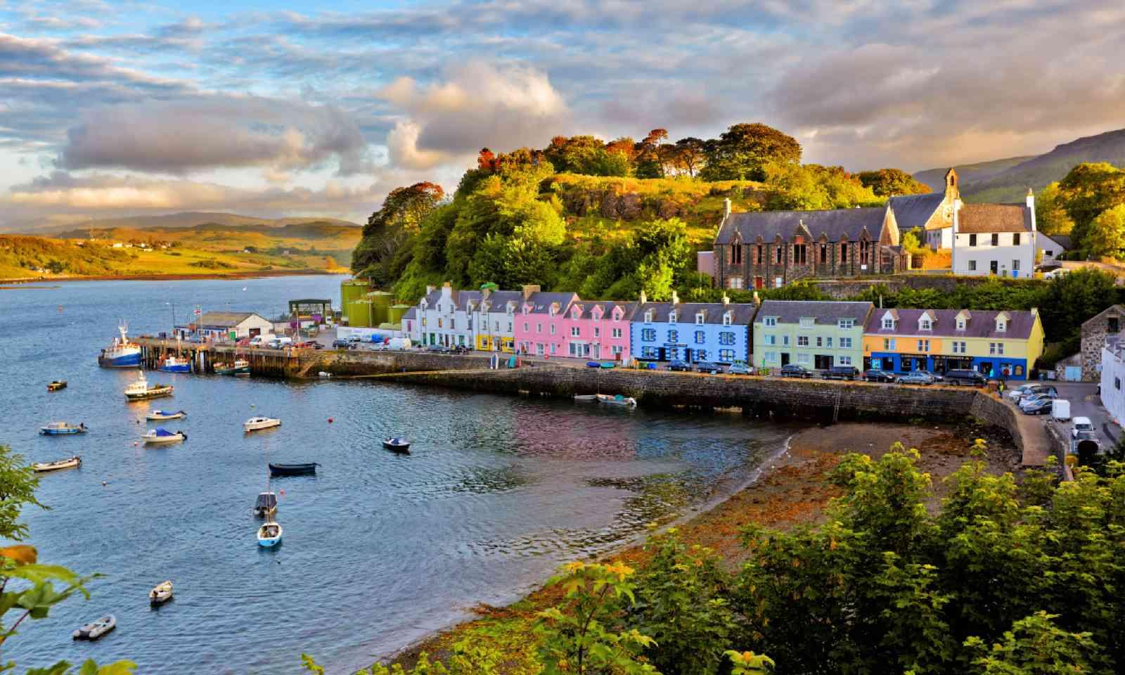 Portree before sunset, Isle of Skye (Shutterstock)